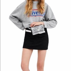 NWT Zara Black Stretch Mini Skirt